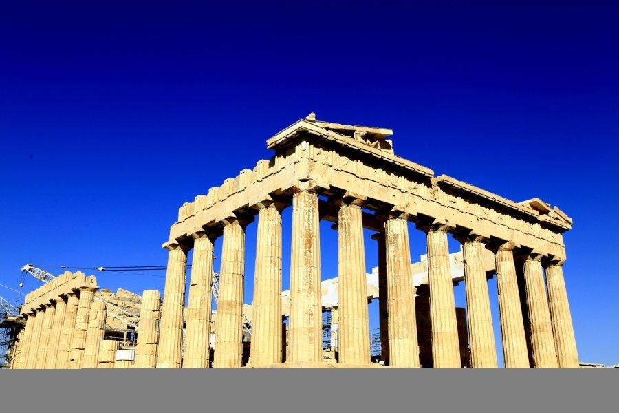 雅典建筑简笔画