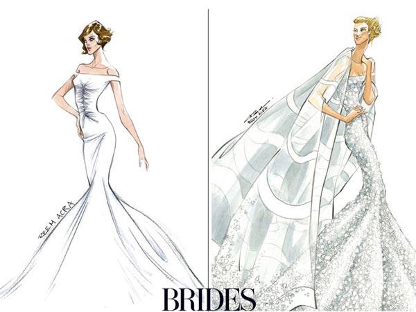 朱莉vs安妮斯顿 设计师婚纱猜想