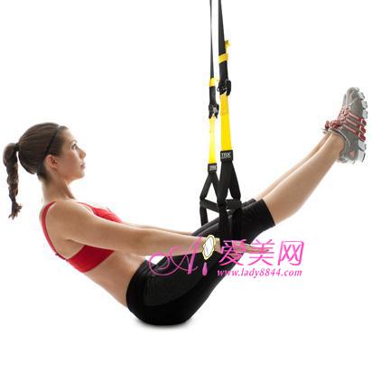 trx拉力带悬吊减肥操 燃脂锻炼核心肌肉群