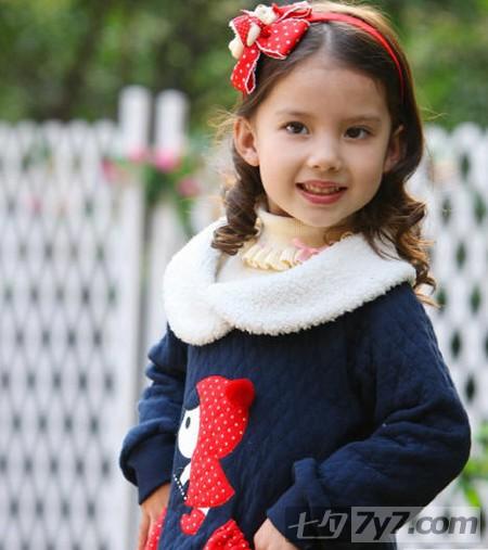 女孩儿童短发发型设计图片 让宝贝新年拥有新气象