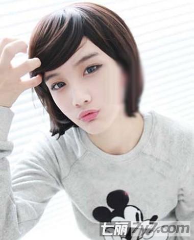 2014短发女生韩式清新可爱发