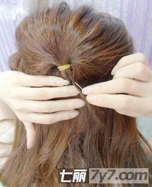 韩式公主彰显步骤扎法气质编发长发图片的清造型短头发新娘发型2015款图片