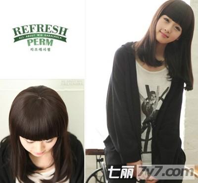 女生中短发直发发型图片 直发梨花头风潮依旧