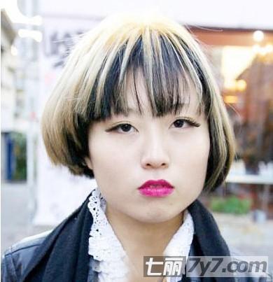 日系精灵气质 长脸女生最爱齐刘海短发