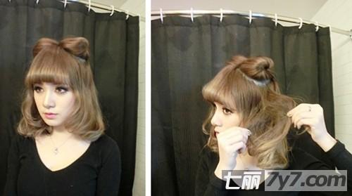 详细图解美女教你做发型