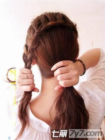 时尚简单编发图解 初夏变身完美女神-diy发型-美容