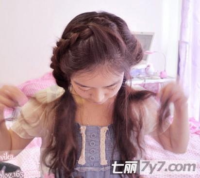 简单韩式编发教程图解 可爱个性清新女神范儿