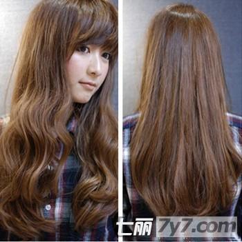 女烫发中长发大卷分享展示图片