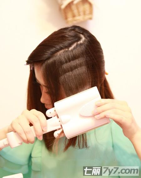 2012韩式蛋卷头中长发型 公主范diy烫发
