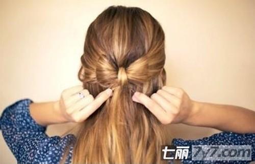 蝴蝶结发型扎法步骤图解 学扎简单时尚发型