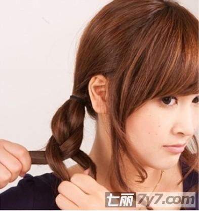 修颜韩式丸子头盘发步骤 简单扎法减龄瘦脸-diy发型