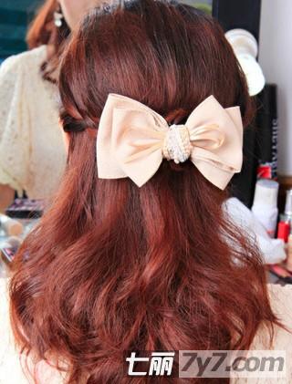 好看的刘海编发盘发发型 简单教程打造淑女发型
