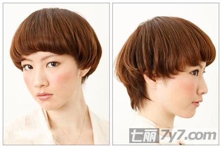 春季减龄短发推荐 5款蘑菇头短发发型图片萌到爆图片图片