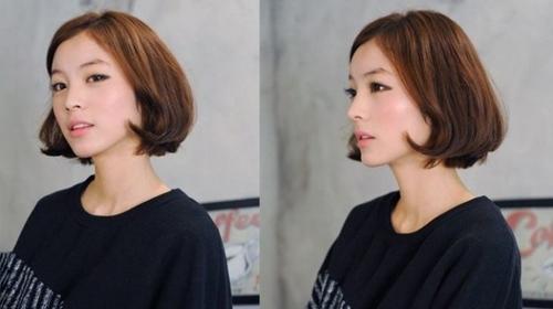 6款韩式中短发烫发发型图片