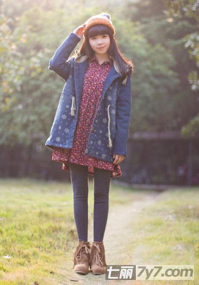 矮个子女生冬季搭配 外套混搭显高又时髦