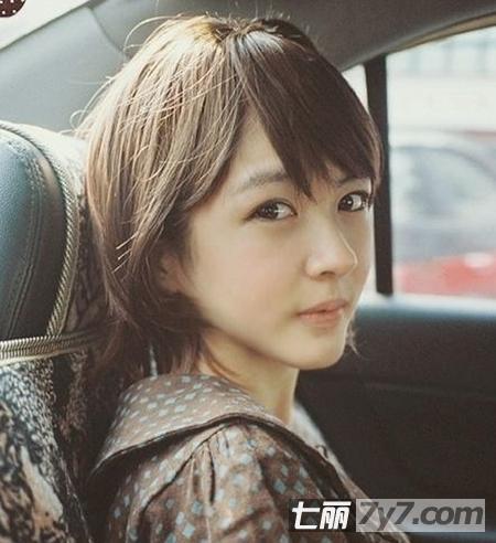 圆脸女生适合的短发 日系森女复古瘦脸发型