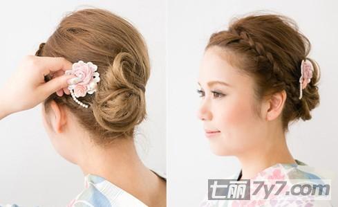 日系短发女生刘海编发教程 甜美可爱惹人爱-短发发型