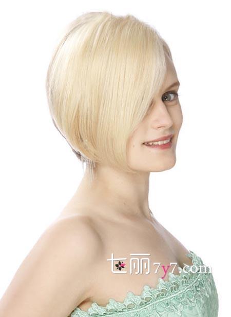 欧美时尚短发发型图片