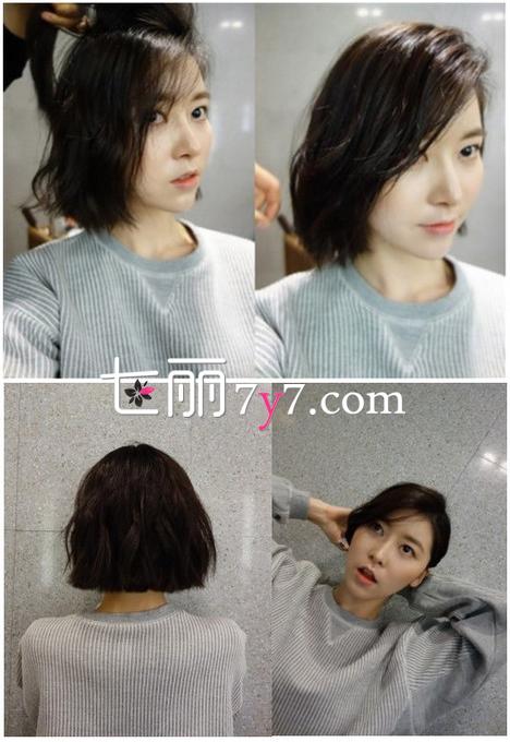 短发怎么扎好看 齐肩短发简单扎法图解-短发发型