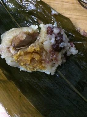 咸蛋黄肉粽