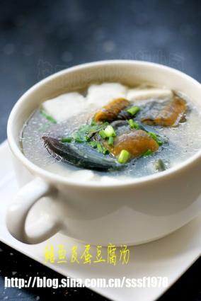 鳝鱼皮蛋豆腐汤