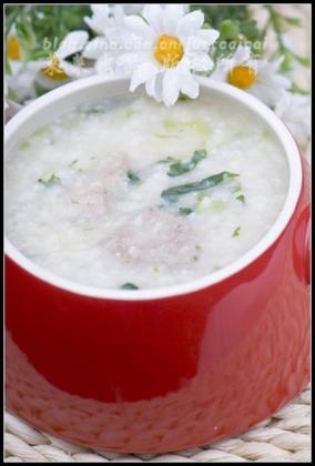 菠菜猪肝粥