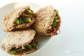 全麦肉夹馍——适合减肥塑身吃的低卡肉夹馍!
