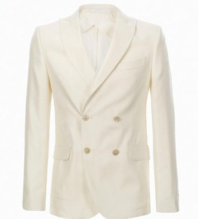 白色裝排扣西裝外套