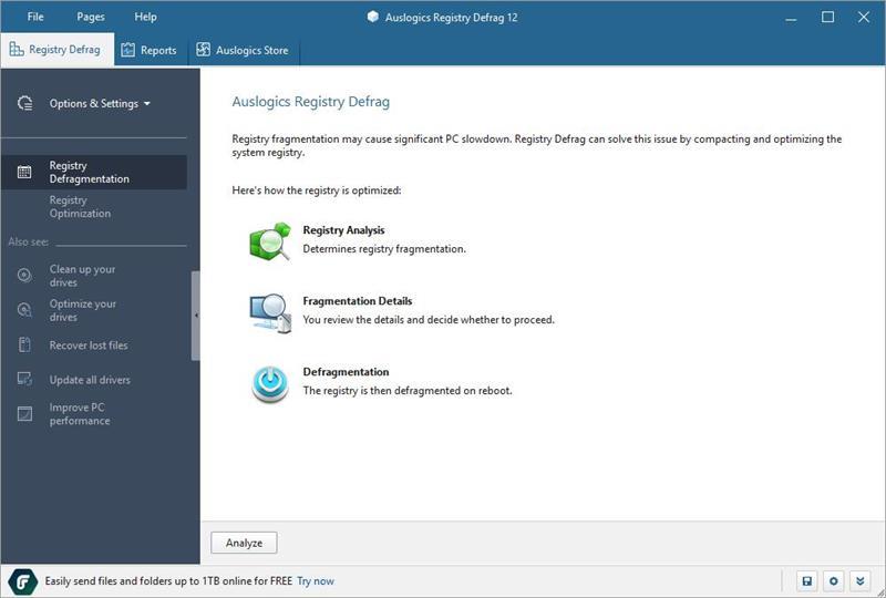 注册表碎片整理工具(Auslogics Registry Defrag)下载