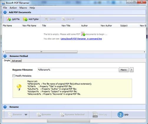 Boxoft pdf Renamer(PDF文件重命名软件)下载