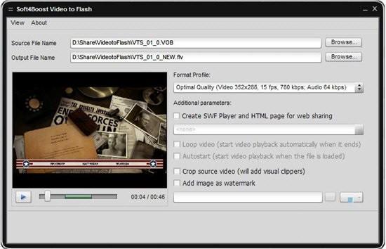 Soft4Boost Video to Flash(视频格式转换工具)下载